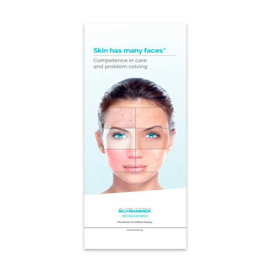 Dr. Med. Schrammek Derma Cosmetics Roll Up Banner