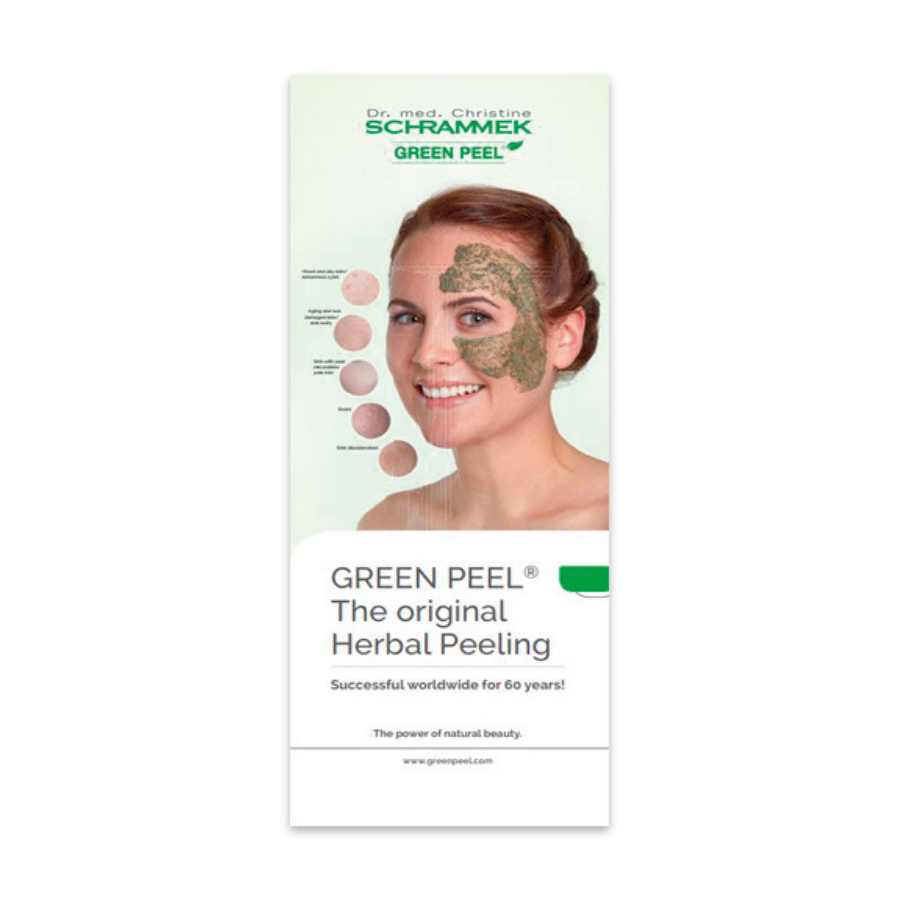 Dr. Med. Schrammek GREEN PEEL® Roll Up Banner