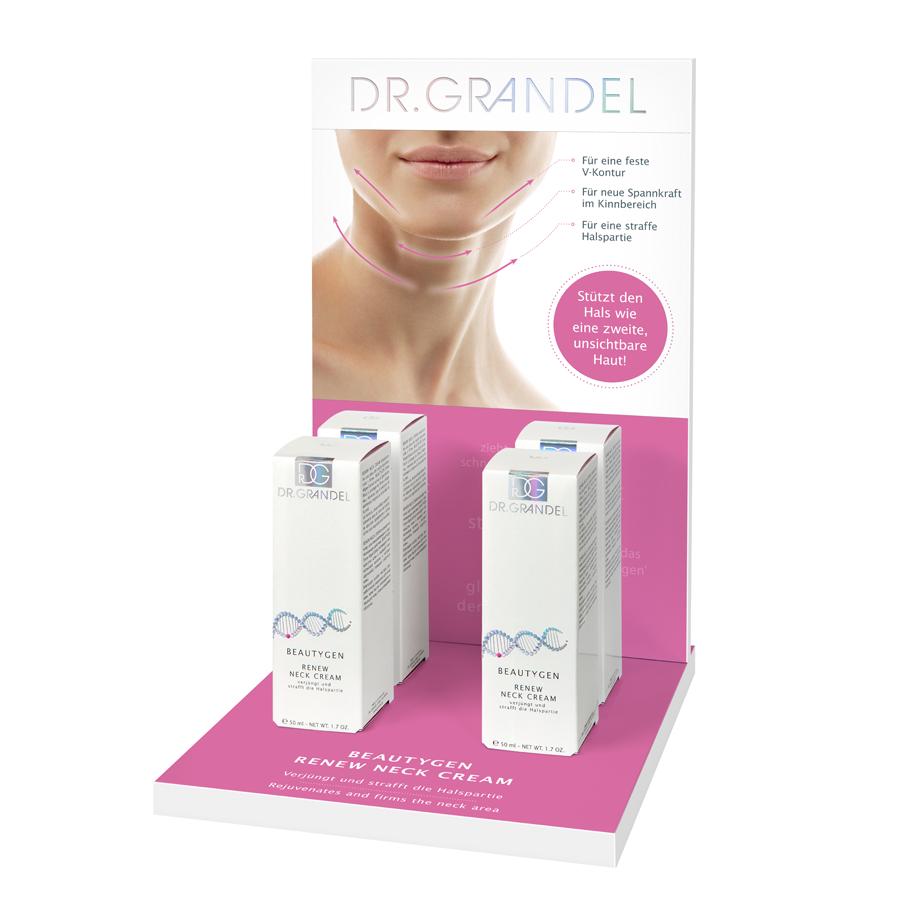 Dr. Grandel BeautyGen Neck Cream Display +Products 15% Off